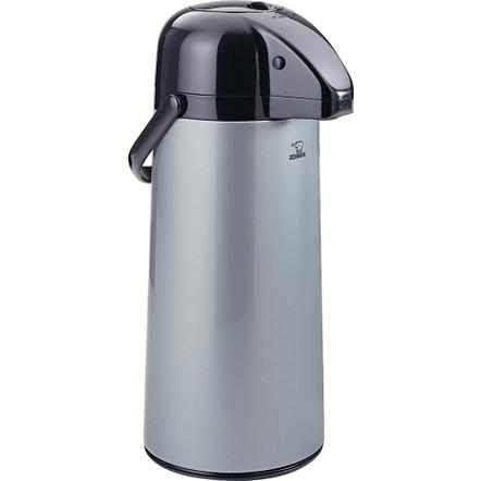 Zojirushi Air Pot Silver Stainless Steel Beverage Dispenser, 74 Ounce