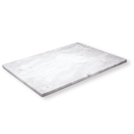 White Marble Pastry and Cutting Board, 18 x 18 Inch
