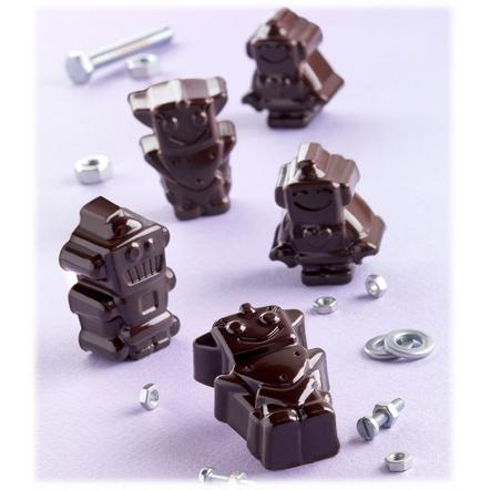 Silikomart Stampo Brown Silicone Robochoc Chocolate Mold, 12 Piece