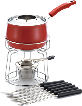 Rachael Ray Red Stainless Steel II Fondue Set, 2 Quart