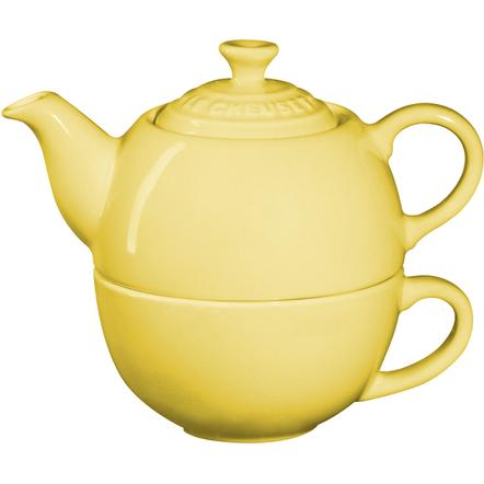 Le Creuset Soleil Yellow Stoneware Tea for One