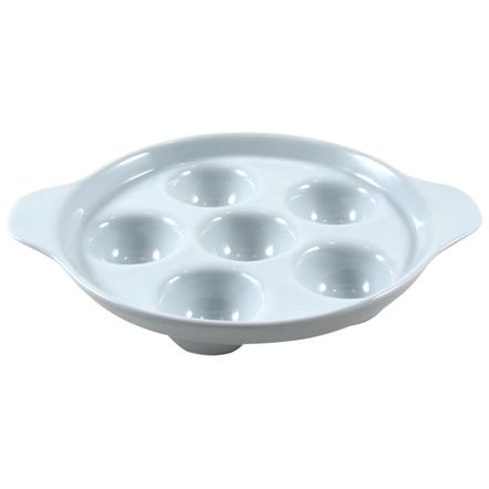 Turgla White Porcelain Escargot Dish
