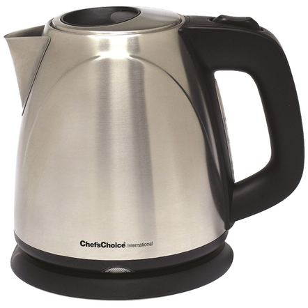 Chef's Choice 673 Stainless Steel Cordless Compact Electric Kettle, 1 Quart