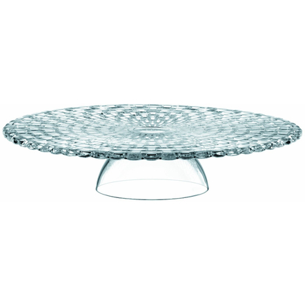 Nachtmann Bossa Nova Dancing Stars Multipurpose Crystal Cake Plate and Chip and Dip Set, 12.6 Inch