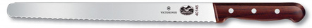 Victorinox Forschner Serrated Stainless Steel Roast Beef Slicing Knife with Rosewood Handle, 12 Inch