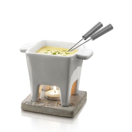 Boska Holland Life Collection Gray Ceramic Tapas Fondue Set