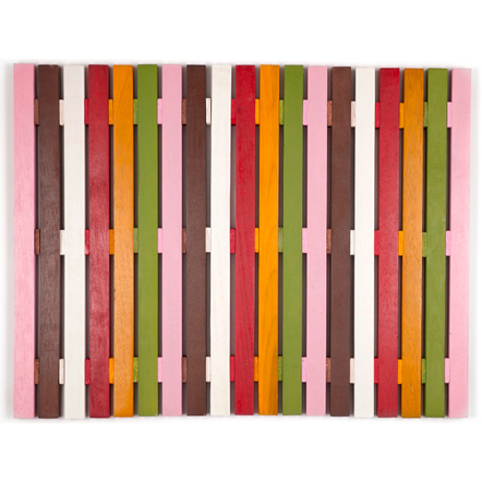 Entryways Bell Multi-Color Exotic Wood Mat, 18 X 30 Inch