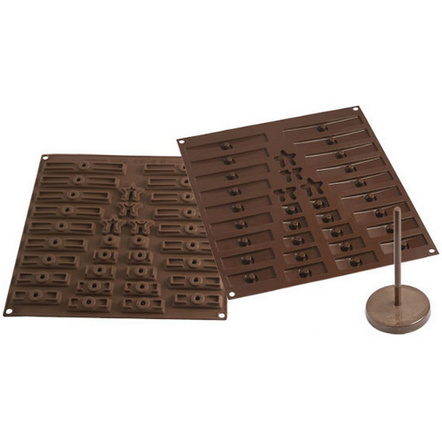 Silikomart Brown Silicone 3D Tree Easy Chocolate Mold Set