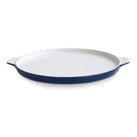Mario Batali by Dansk Cobalt Stoneware Pizza Pan, 12 Inch