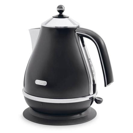 Delonghi Icona Black Stainless Steel Kettle