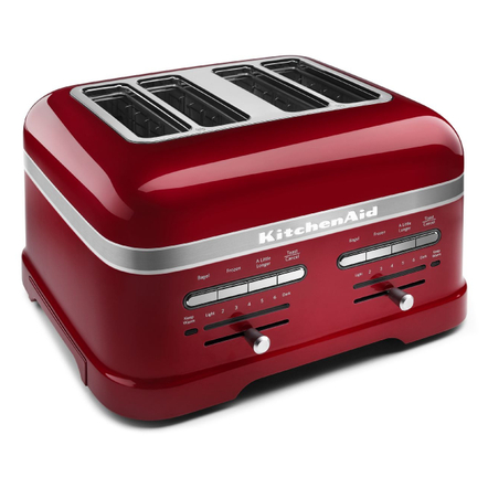 KitchenAid Pro Line Series Candy Apple Red 4-Slice Automatic Toaster