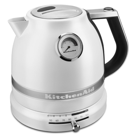 KitchenAid Pro Line Frosted Pearl White 1.5 Liter Electric Kettle