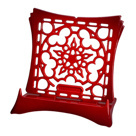 Le Creuset Cherry Enameled Cast Iron Cookbook Stand