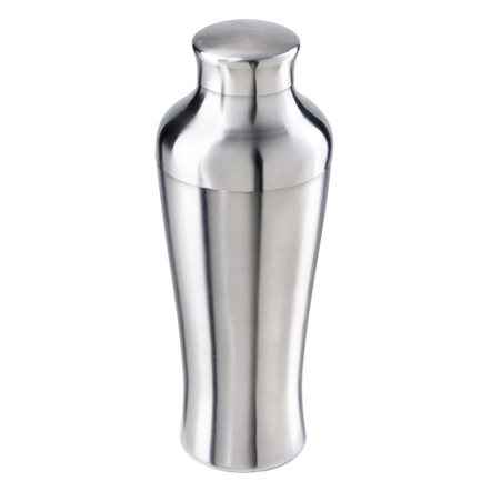 Oggi Satin Finish Stainless Steel 26 Ounce Tall and Slim Cocktail Shaker