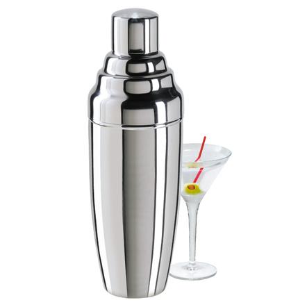 Oggi Satin Finish Stainless Steel Jumbo 60 Ounce Party Cocktail Shaker