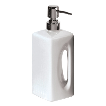 Oggi EZ Grip White Ceramic 16 Ounce Lotion Dispenser
