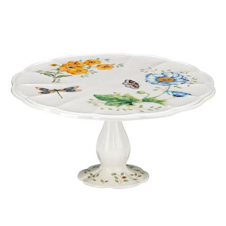 Lenox Butterfly Meadow 10 Inch Pedestal Cake Plate