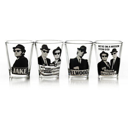 The Blues Brothers Movie 4 Piece Shot Glass Set