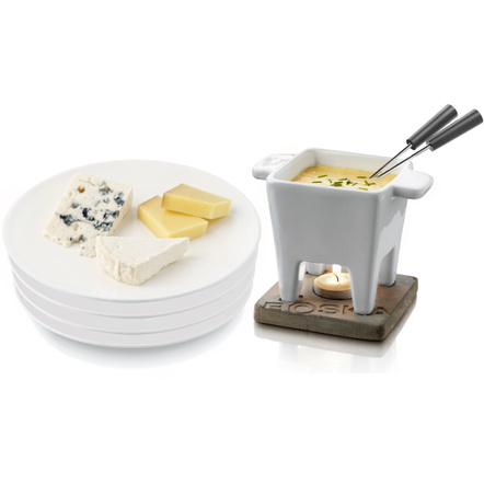 Boska Holland Gray Life Fondue Set with Living Plate