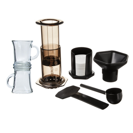 Aerobie AeroPress Coffee Maker with 2 Glass Mugs