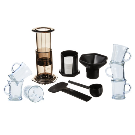 Aerobie AeroPress Coffee and Espresso Maker with 6 Glass Mugs
