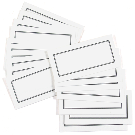 Homart Plain White Paper Placecards, 100 Count