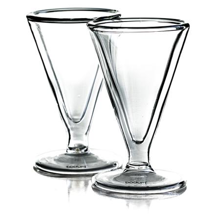 Bodum Manhattan Double Wall 1 Ounce Schnapps Glass, Set of 2