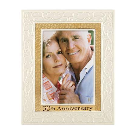 Lenox 50th Anniversary Ivory & Gold 5 x 7 Inch Frame