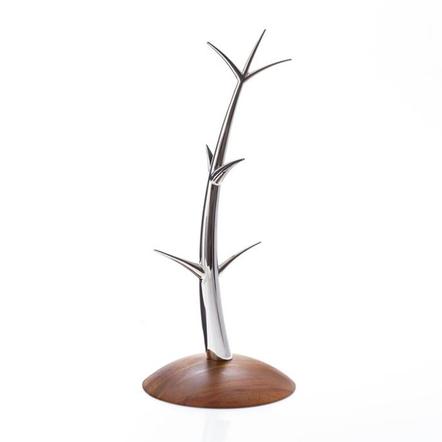 Nambe Wood and Stainless Steel Sway Mug Tree
