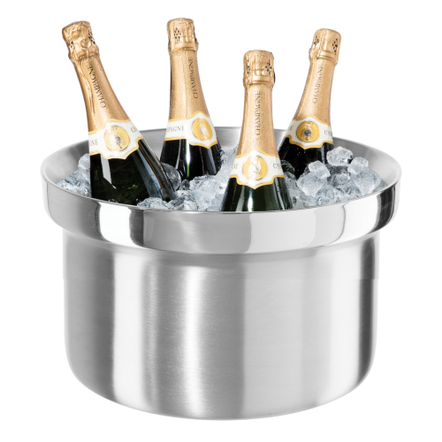 Oggi Stainless Steel Double Wall 6 Bottle Party Tub