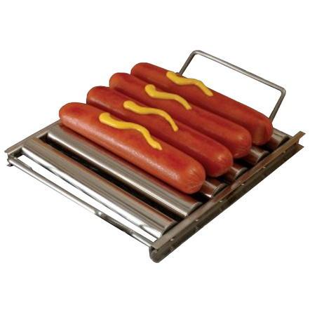 Charcoal Companion Stainless Steel Hot Dog Roller Rack
