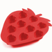 Red Silicone Strawberry Shaped Ice Tray