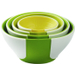 Chef'N SleekStor 4 Piece Pinch + Pour Prep Bowl Set in Green Tonal Colors