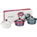 Le Creuset Christmas Assorted Colors Stoneware Mini Cocotte, Set of 3