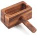 Ironwood Acacia Wood Bagel Miter and Slicer