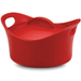 Rachael Ray Casserround Red Stoneware 2.75 Quart Round Casserole