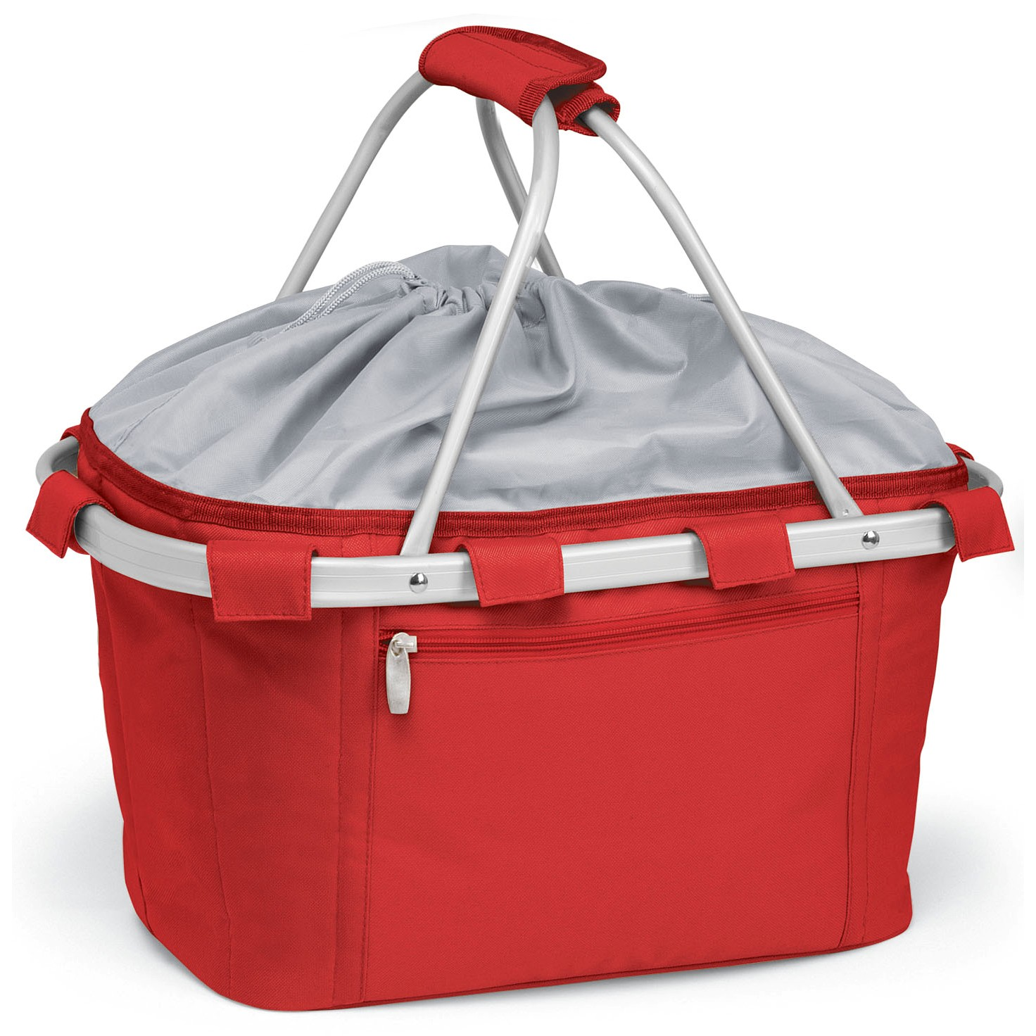 Picnic Time Metro Red Collapsible Picnic Basket