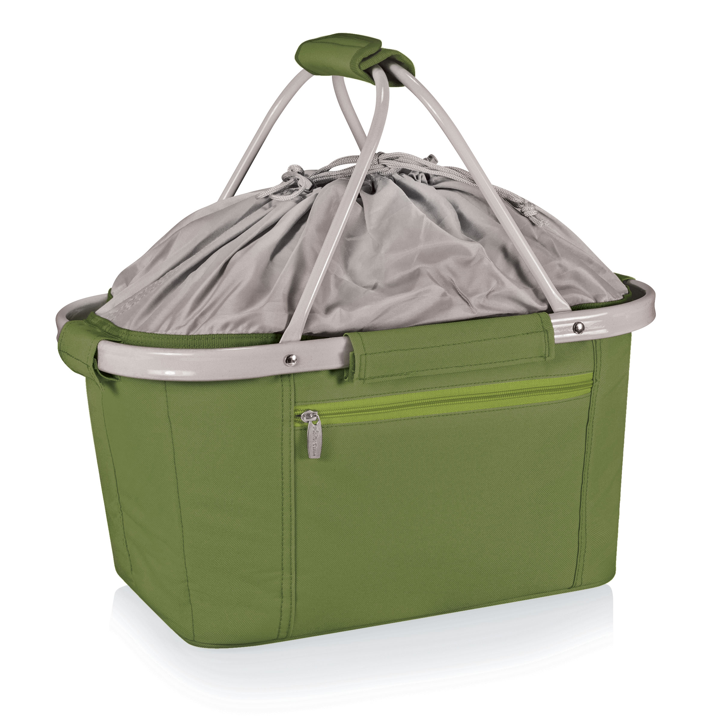 Picnic Time Metro Olive Green Collapsible Picnic Basket