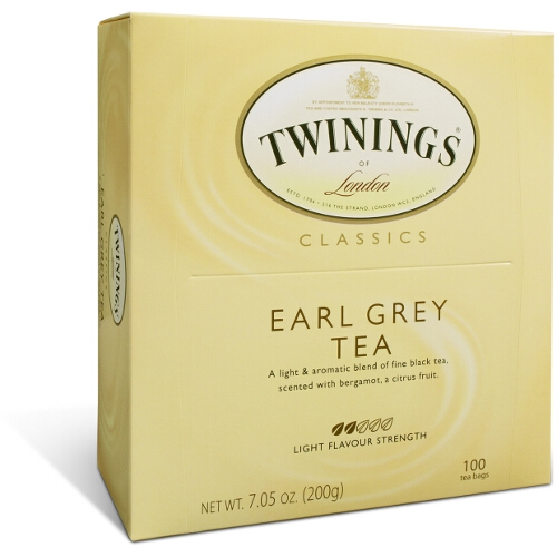 Twinings Classic Earl Grey Light Strength Tea, 100 Count