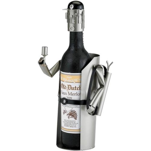 Old Dutch Metal Male Golfer Wine Bottle Holder Buddy