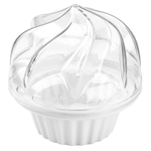 White Cupcake To Go Plastic Cupcake Holder