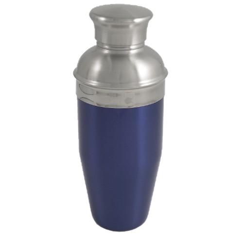 Blue Enameled Stainless Steel Cocktail Shaker 26oz NEW