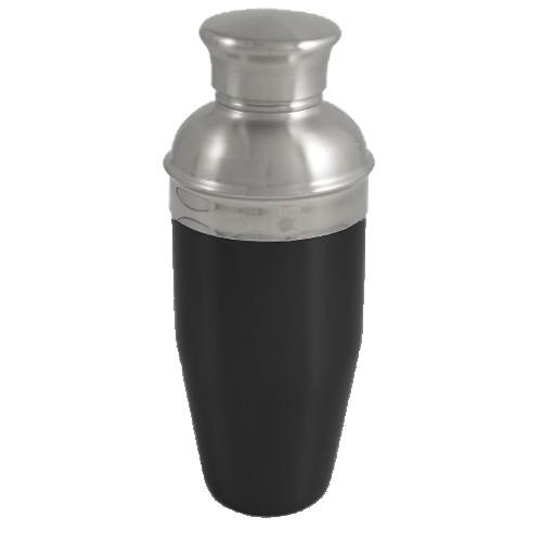 Black Enameled Stainless Steel Cocktail Shaker