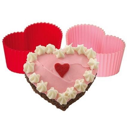 Tovolo Silicone Heart Mini Cupcake Mold, Set of 8