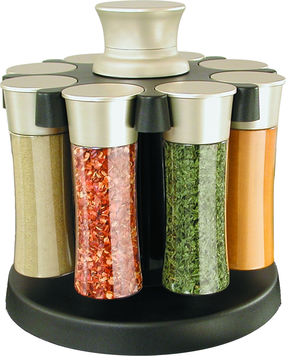 KitchenArt 8 Jar Elite Basic Spice Carousel