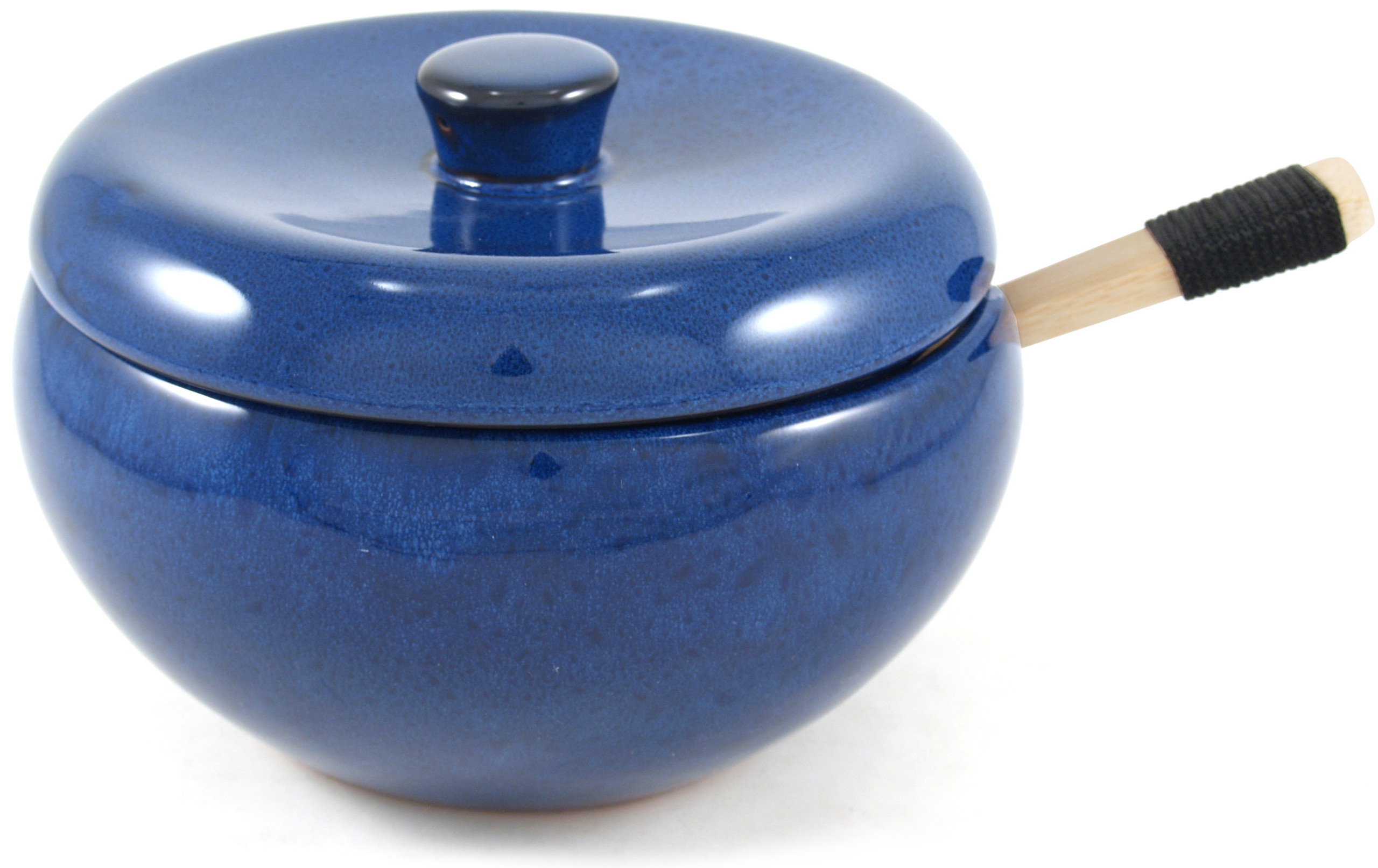 China Village 3 Piece Blue Covered Rice Server Set