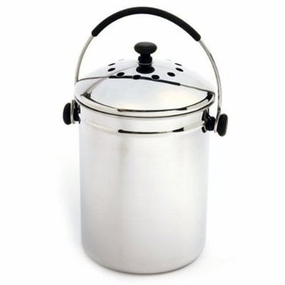 Norpro Grip-EZ Stainless Steel Compost Keeper Pail
