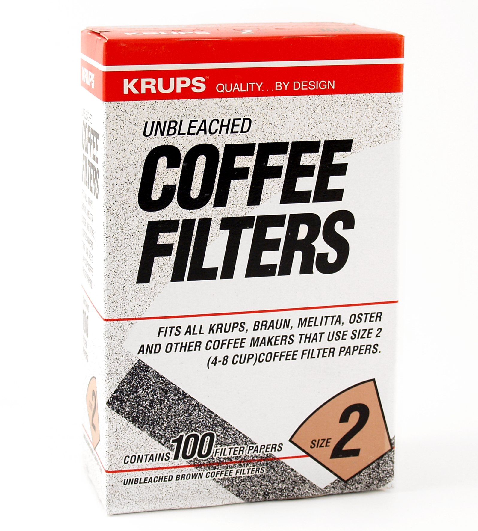 Krups Natural Brown Paper Filter Size Two 100 Pack