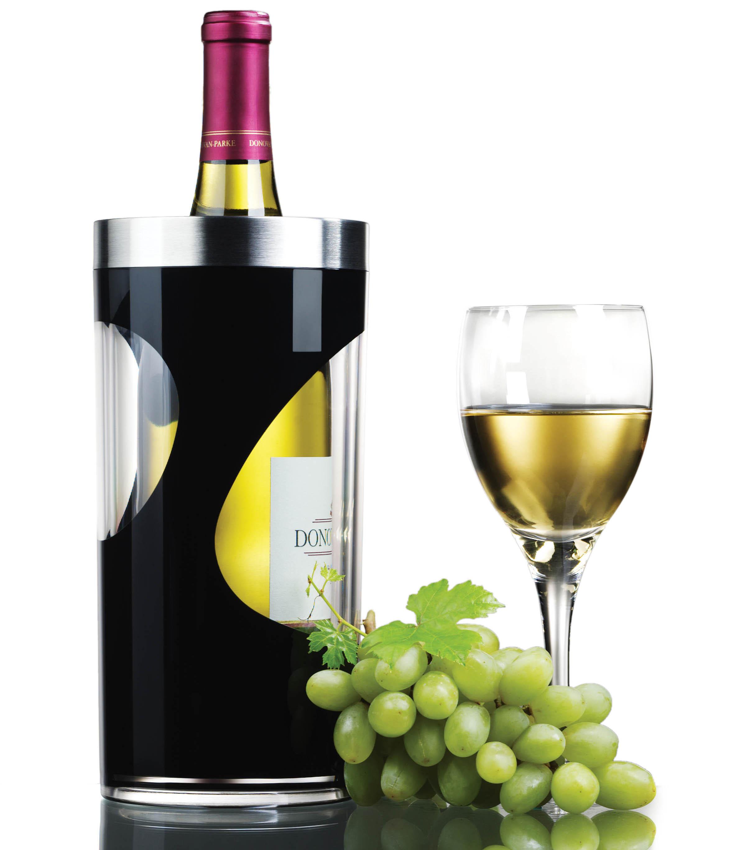 Prodyne Swirl Black Acrylic Iceless Wine Cooler