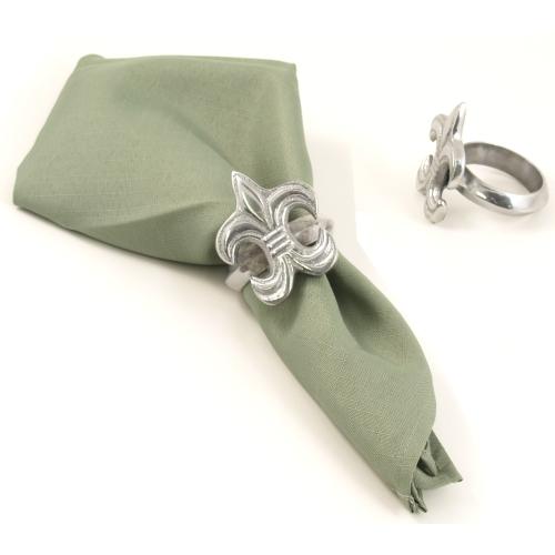 Fleur De Lis Classic Napkin Rings Set of 4